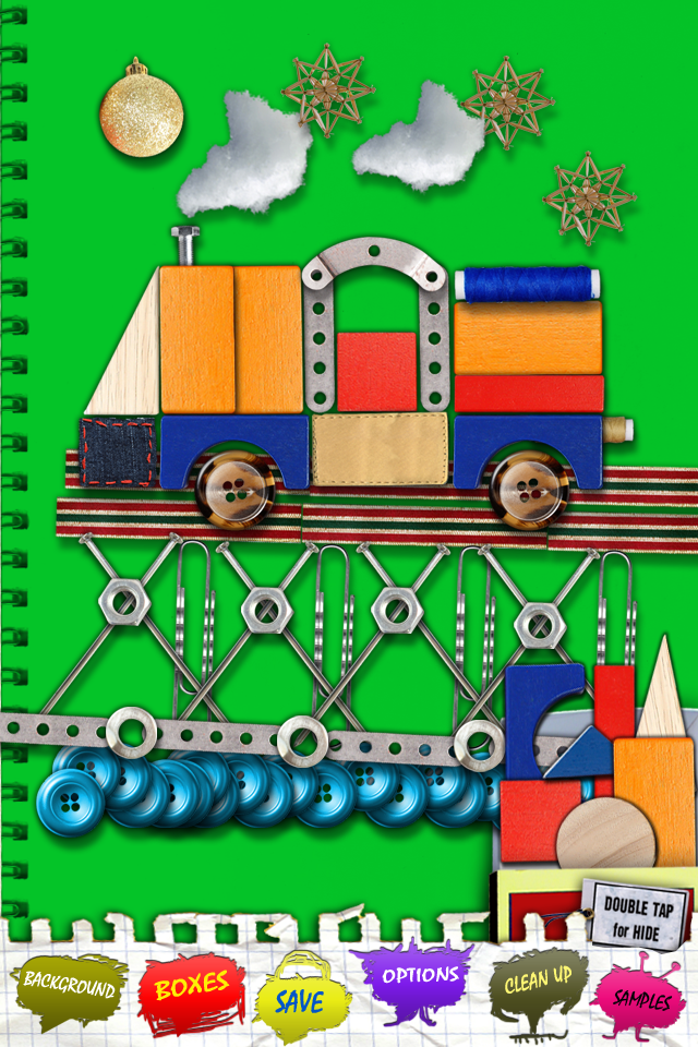 Screenshot BeCreative – iPhone version